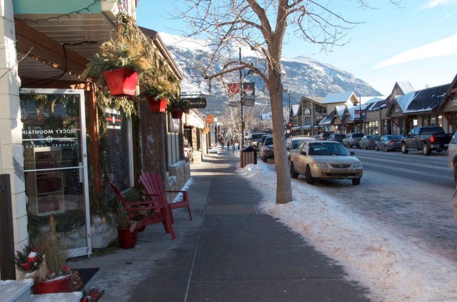 Canmore main street looking east