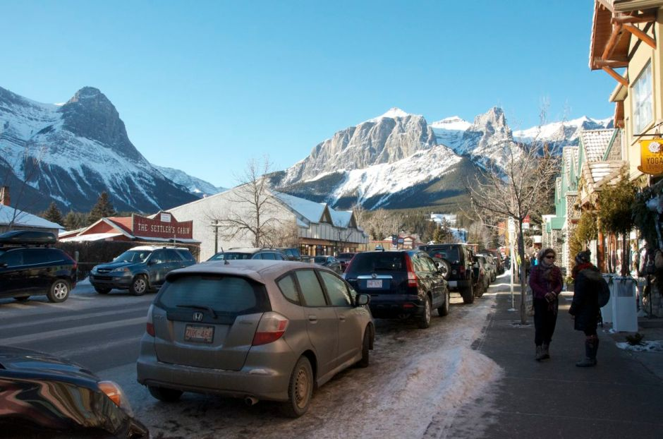 Canmore main street looking west